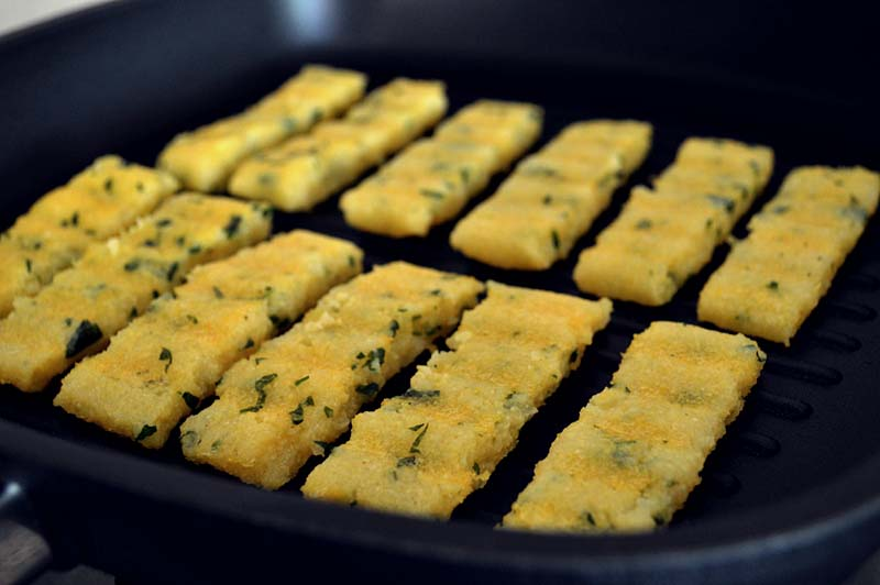 Polenta grilled sticks