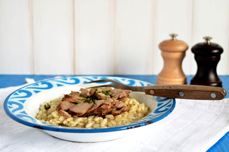 Duck risotto